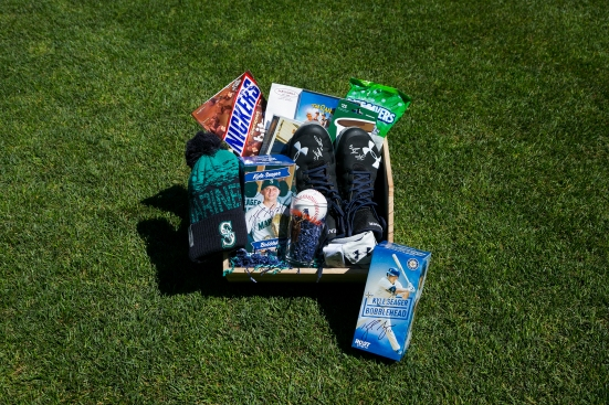 Kyle Seager's favorite things basket